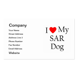 I Love My SAR Dog Pack Of Standard Business Cards