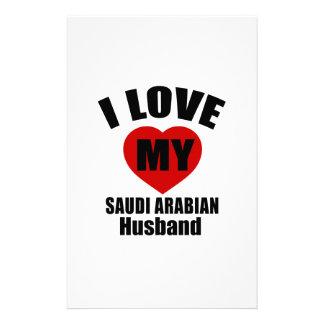 I LOVE MY SAUDI ARABIAN HUSBAND CUSTOMISED STATIONERY
