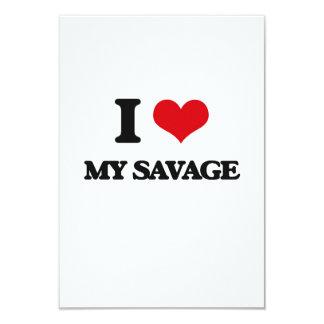 I Love My Savage 9 Cm X 13 Cm Invitation Card