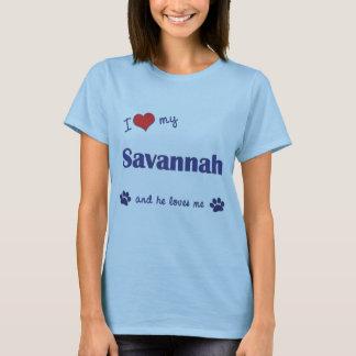I Love My Savannah (Male Cat) T-Shirt