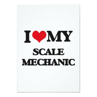 I love my Scale Mechanic 13 Cm X 18 Cm Invitation Card