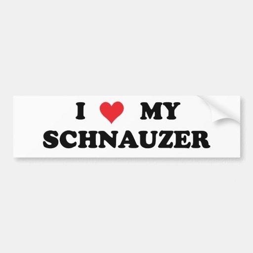 I Love My Schnauzer Bumper Sticker