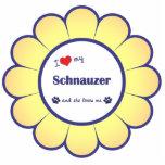 I Love My Schnauzer (Female Dog) Cut Out