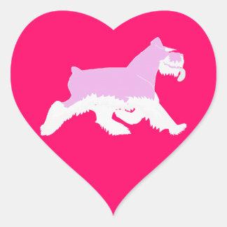 I love my Schnauzer -Sticker Heart Sticker