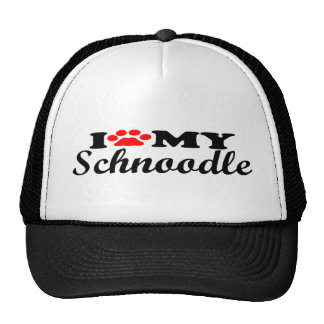 I Love My Schnoodle Cap