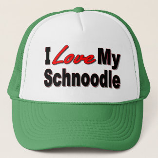 I Love My Schnoodle Dog Gifts and Apparel Trucker Hat