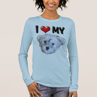 I Love My Schnoodle Long Sleeve T-Shirt