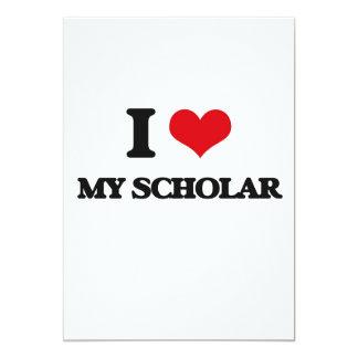 "I Love My Scholar 5"" X 7"" Invitation Card"