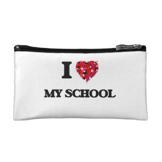 I love My School Cosmetic Bags
