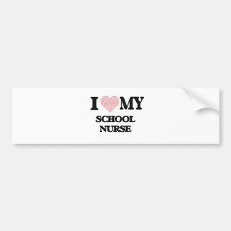 I love my School Nurse (Heart Made from Words) Bumper Sticker