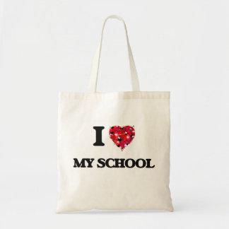 I love My School Budget Tote Bag