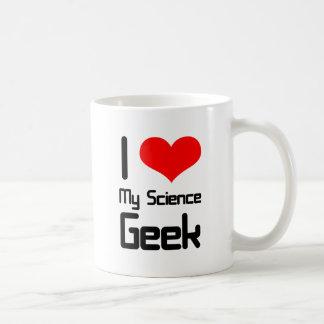 I love my science geek basic white mug