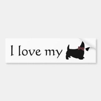 I Love My Scottie Bumper Sticker