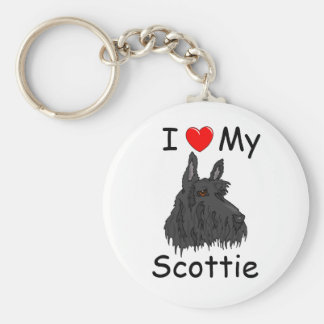 I Love my Scottie Keychain