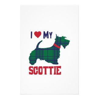 I Love My Scottie Stationery