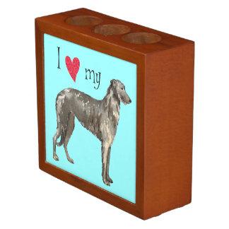I Love my Scottish Deerhound Desk Organiser