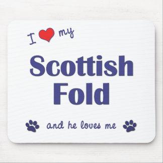 I Love My Scottish Fold (Male Cat) Mouse Pad