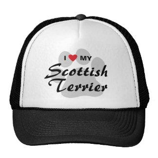 I Love My Scottish Terrier Hats