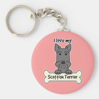 I Love My Scottish Terrier Key Ring