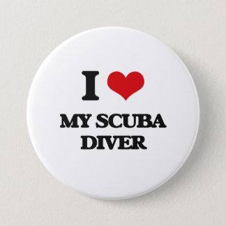 I Love My Scuba Diver 7.5 Cm Round Badge