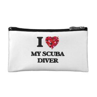 I Love My Scuba Diver Makeup Bag