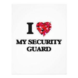 I Love My Security Guard 21.5 Cm X 28 Cm Flyer