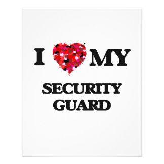 I love my Security Guard 11.5 Cm X 14 Cm Flyer