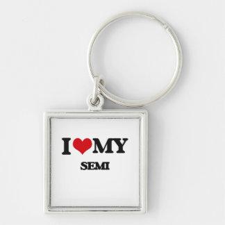 I Love My SEMI Keychain