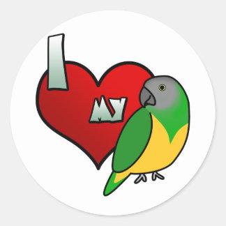 I Love my Senegal Parrot Classic Round Sticker