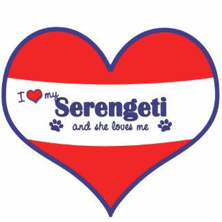 I Love My Serengeti (Female Cat) Photo Sculpture Decoration