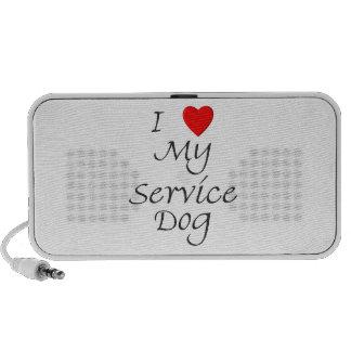 I Love My Service Dog Travel Speakers