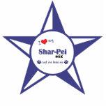 I Love My Shar-Pei Mix (Female Dog) Photo Sculpture