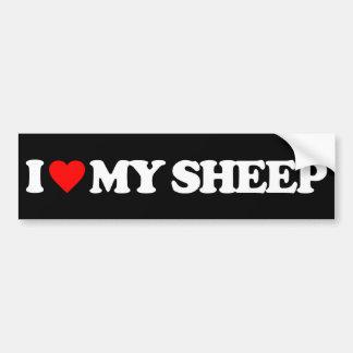 I LOVE MY SHEEP BUMPER STICKER