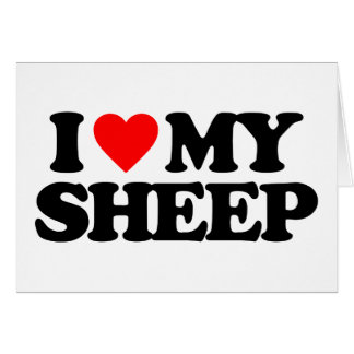 I LOVE MY SHEEP CARD