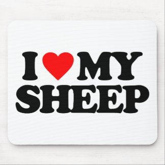 I LOVE MY SHEEP MOUSE MAT