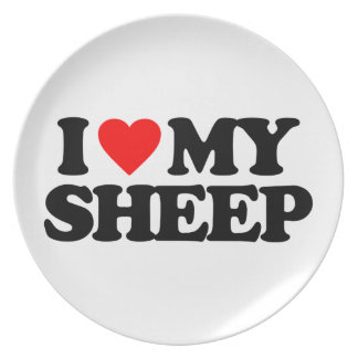 I LOVE MY SHEEP PLATE
