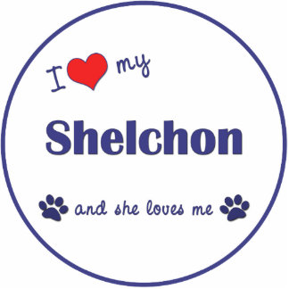 I Love My Shelchon (Female Dog) Photo Sculpture Decoration