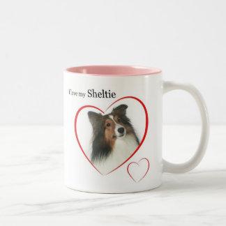 I Love my Sheltie #2 Two-Tone Coffee Mug