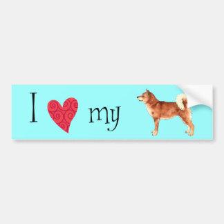 I Love my Shiba Inu Bumper Sticker