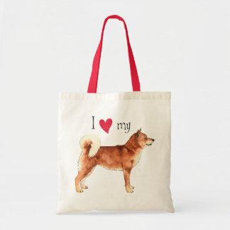 I Love my Shiba Inu Tote Bag