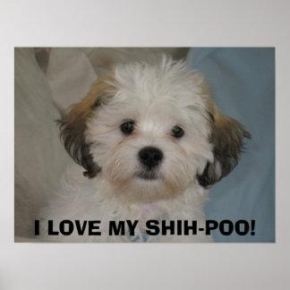 I LOVE MY SHIH-POO! POSTER