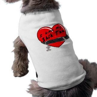 I Love My Shih Tzu Heart with Dog Collar Dog T Shirt