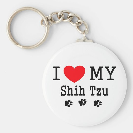 I Love My Shih Tzu! Key Ring