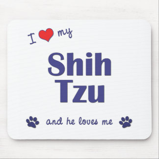 I Love My Shih Tzu (Male Dog) Mouse Mat