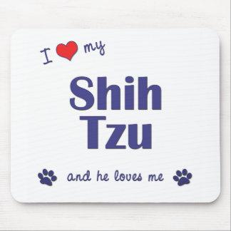 I Love My Shih Tzu (Male Dog) Mouse Pad