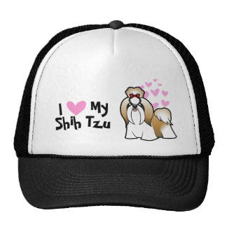 I Love My Shih Tzu (show cut) Cap