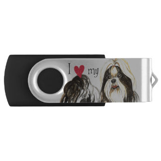 I Love my Shih Tzu USB Flash Drive