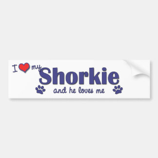 I Love My Shorkie (Male Dog) Bumper Sticker