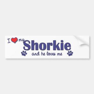 I Love My Shorkie (Male Dog) Bumper Sticker