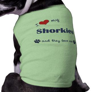 I Love My Shorkies (Multiple Dogs) Sleeveless Dog Shirt